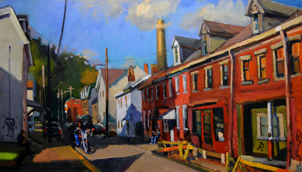 """15th Street View,"" by William Pfahl, 2016, oil on canvas on board, 16 x 24 in."